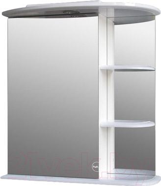 Шкаф с зеркалом для ванной Atoll Рио Н (белый)