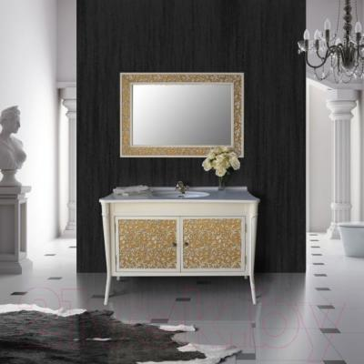 Зеркало для ванной Atoll Валенсия 130 (патина золото)