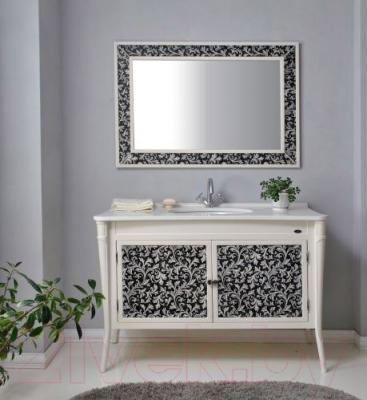 Зеркало для ванной Atoll Валенсия 130 (черный)
