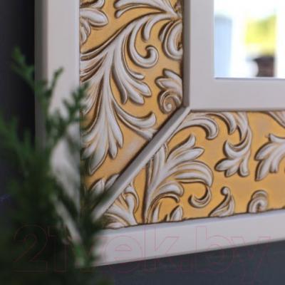 Зеркало для ванной Atoll Валенсия 75x100 (патина золото)