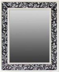 Зеркало для ванной Atoll Валенсия 75x100 (черный)