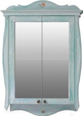 Шкаф с зеркалом для ванной Atoll Ривьера (небесно-голубой)