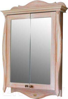 Шкаф с зеркалом для ванной Atoll Ривьера (персиковый)