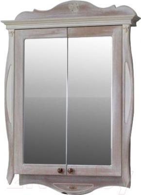 Шкаф с зеркалом для ванной Atoll Ривьера (ромашки)