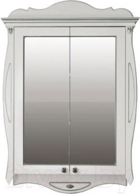 Шкаф с зеркалом для ванной Atoll Ривьера (серебро)