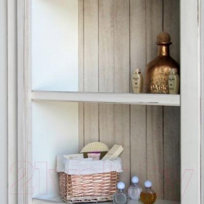 Шкаф с зеркалом для ванной Atoll Шато (слоновая кость состаренная)