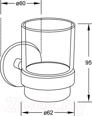 Стакан для зубных щеток Steinberg Series 650.2000 - технический чертеж