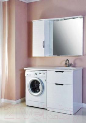 Шкаф с зеркалом для ванной Atoll Бавария (белый)