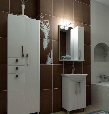 Шкаф с зеркалом для ванной Triton Диана 55 (правый) - в интерьере