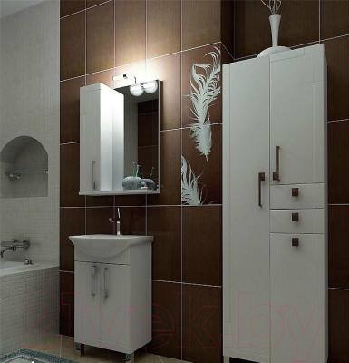 Шкаф с зеркалом для ванной Triton Диана 70 (левый) - в интерьере