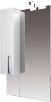 Шкаф с зеркалом для ванной Triton Диана 60 (удлиненный левый) -