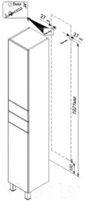 Шкаф-пенал для ванной Triton Диана 30 (002.11.0300.201.01.01 L)