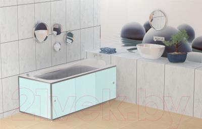 Экран для ванны МетаКам Премиум А 1.68 (голубая роза) - вместе с ванной