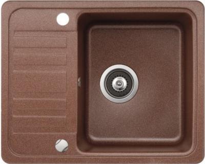 Мойка кухонная Aquasanita NOTUS SQ102 (медь) - вид сверху