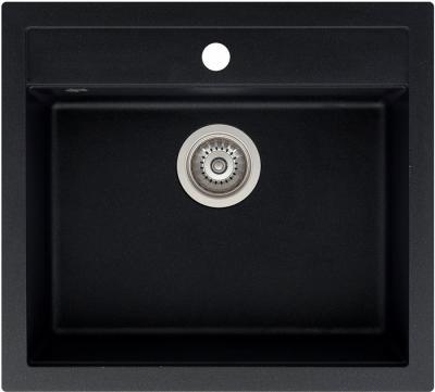 Мойка кухонная Aquasanita QUADRO SQQ100 (черный металлик) - общий вид