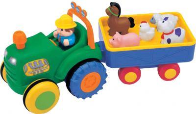 Развивающая игрушка Kiddieland Трактор фермера с прицепом 024752 - общий вид