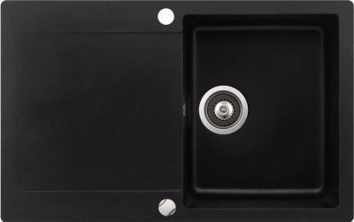 Мойка кухонная Aquasanita CUBA SQC101 (черный металлик) - общий вид