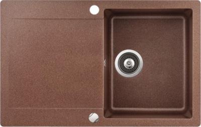 Мойка кухонная Aquasanita CUBA SQC101 (медь) - общий вид
