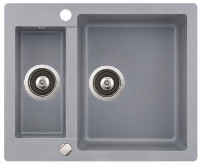Мойка кухонная Aquasanita CUBA SQC150 (металлик) - общий вид