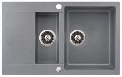 Мойка кухонная Aquasanita CUBA SQC151 (металлик) - общий вид
