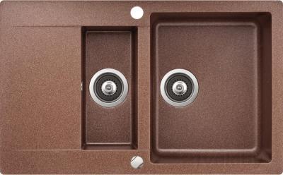 Мойка кухонная Aquasanita CUBA SQC151 (медь) - общий вид