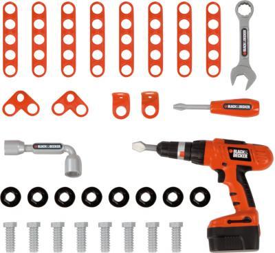 Детский набор инструментов Smoby Мастерская-тележка Black & Decker (500221) - инструменты