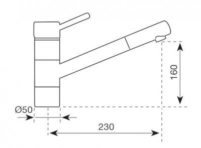 Смеситель Aquasanita Argo 2765 Beige - схема