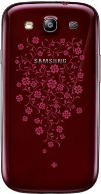 Смартфон Samsung Galaxy S III La Fleur / I9300 (красный) - задняя панель