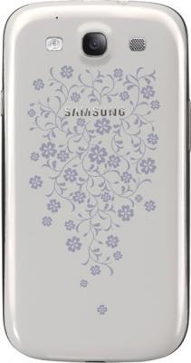 Смартфон Samsung Galaxy S III La Fleur / I9300 (белый) - задняя крышка