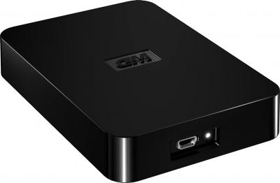 Внешний жесткий диск Western Digital Elements SE Portable 750GB (WDBPCK7500ABK-EESN) - общий вид
