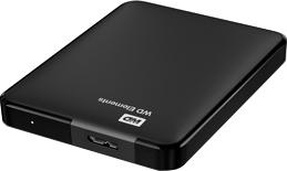 Внешний жесткий диск Western Digital Elements Portable 1.5TB (WDBBJH0015BBK) - вид сверху