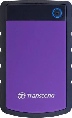 Внешний жесткий диск Transcend StoreJet 25H2P 500GB (TS500GSJ25H2P) - фронтальный вид