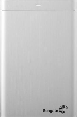 Внешний жесткий диск Seagate Backup Plus Portable Silver 1TB (STBU1000201) - фронтальный вид