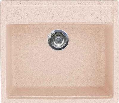 Мойка кухонная Gran-Stone GS-06 (светло-розовый) - цвет на фото не соответствует действительности, смотрите следующее фото