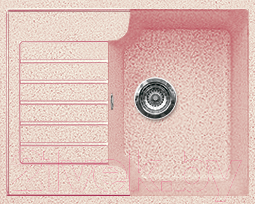 Мойка кухонная Gran-Stone GS-13S (светло-розовый)