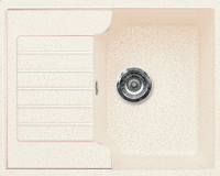 Мойка кухонная Gran-Stone GS-13S (белый) -