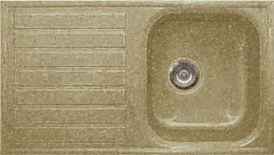 Мойка кухонная Gran-Stone GS-20 (песочный) - общий вид