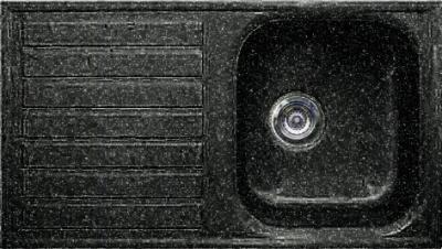 Мойка кухонная Gran-Stone GS-20 (черный) - общий вид
