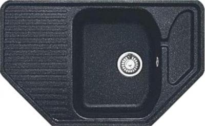 Мойка кухонная Gran-Stone GS-10 (антрацит) - общий вид