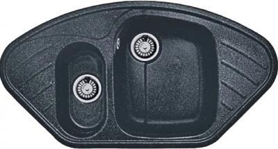 Мойка кухонная Gran-Stone GS-14 (антрацит) - общий вид