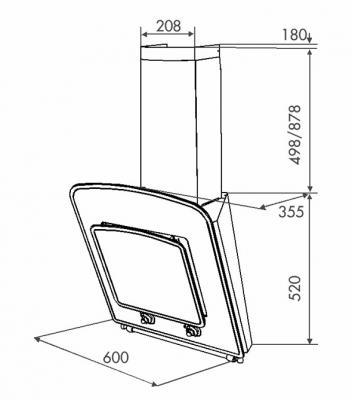 Вытяжка декоративная Zorg Technology Classic 1000 (60, White) - схема