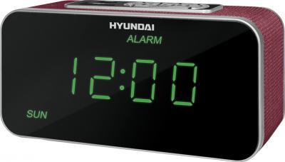 Радиочасы Hyundai H-1503U  (Vinous) - общий вид