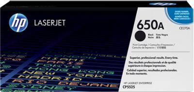 Тонер-картридж HP 650A (CE270A) - общий вид