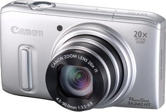 Компактный фотоаппарат Canon PowerShot SX240 HS Silver - общий вид