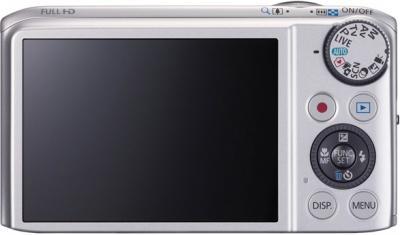 Компактный фотоаппарат Canon PowerShot SX240 HS Silver - вид сзади