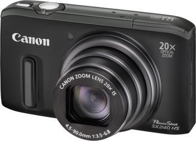 Компактный фотоаппарат Canon PowerShot SX240 HS Black - общий вид
