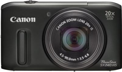 Компактный фотоаппарат Canon PowerShot SX240 HS Black - вид спереди