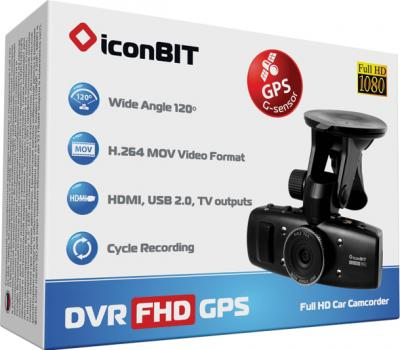 Автомобильный видеорегистратор IconBIT DVR FHD GPS - коробка