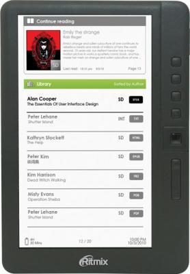 Электронная книга Ritmix RBK-460 (microSD 4Gb) - общий вид