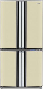Холодильник с морозильником Sharp SJ-F95PE-BE - общий вид